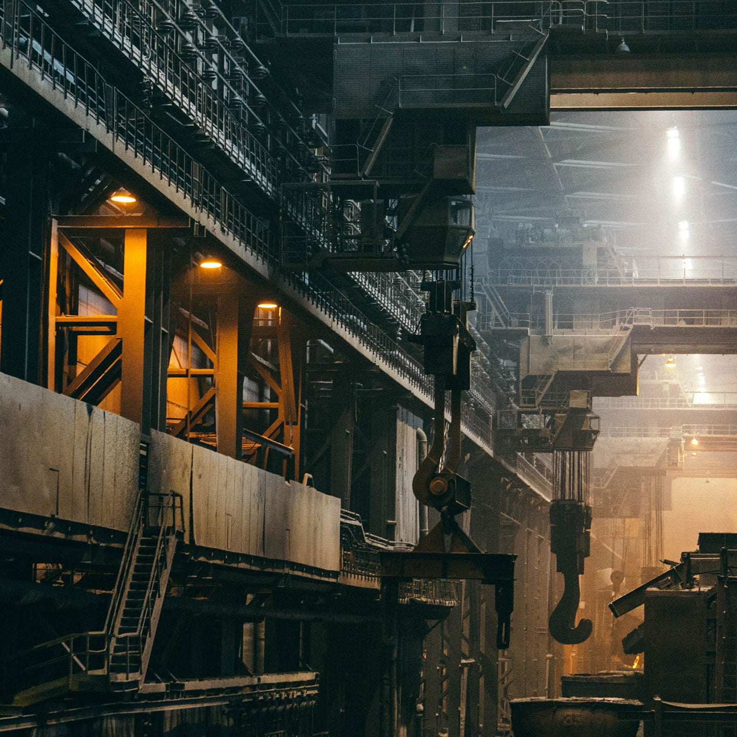 Photo of a steel factory