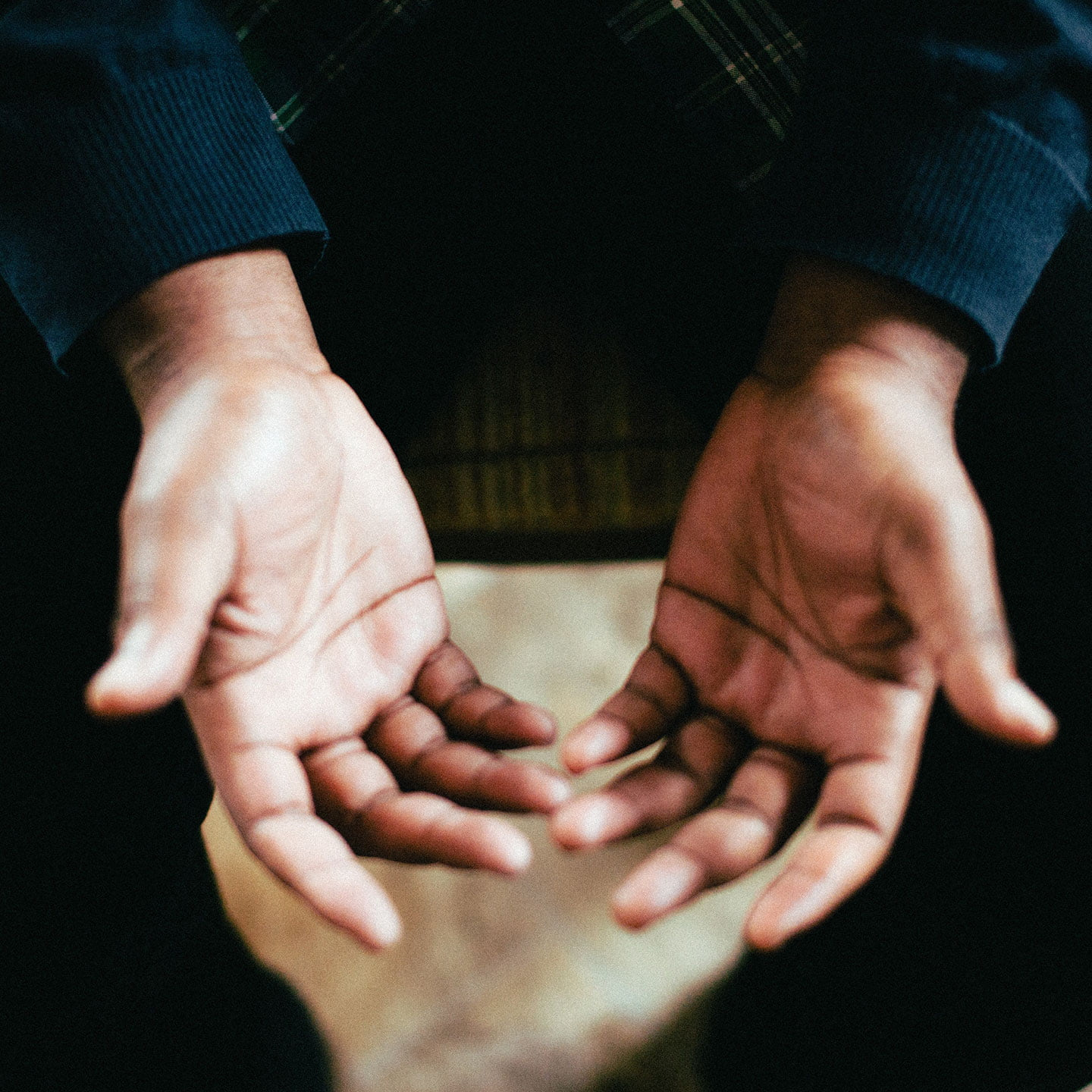 Photo of two open hands, palms up