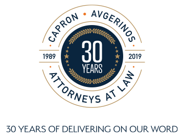 Capron Avgerinos, Attorneys at Law, Celebrating 30 years of delivering on our word.